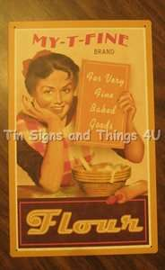 TIN SIGN metal vtg retro ad kitchen pantry diner home decor OHW