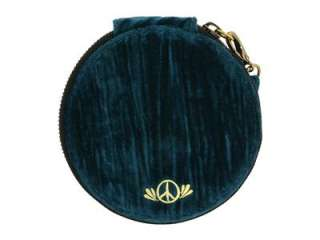 NEW LUCKY BRAND TEAL PEACE COIN PURSE WALLET WRISTLET BAG