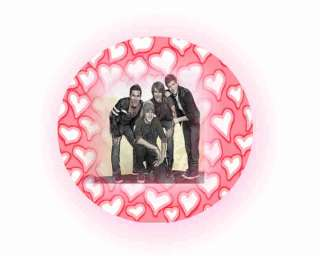 BIG TIME RUSH ROUND EDIBLE CAKE TOPPER DECORATION