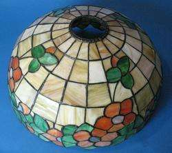 Beautiful Antique Art Nouveau Stained Glass Lamp c.1915