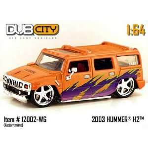 Jada Dub City Orange & Purple 2003 Hummer H2 164 Scale