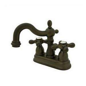 Centerset Lavatory Faucet with Brass Pop up, Oil