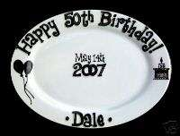 50th Birthday Personalized Gift Plate