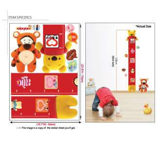 WINNIE THE POOH Childrens Growth Chart Wall STICKERS