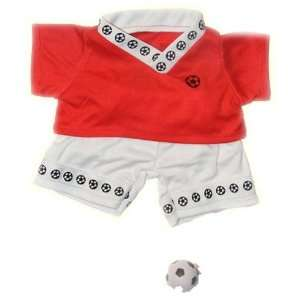 Red Soccer Outfit Teddy Bear Clothes Fit 14   18 Build A