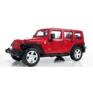 HO 2007 Jeep Wrangler 4 Door Unlimited (Red) Atlas Trains