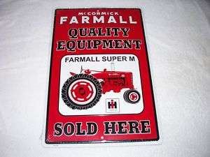 McCormick Farmall IH International Harvester Metal Sign