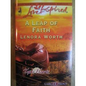 A Leap of Faith, Texas Hearts, Love Inspired, LARGE PRINT