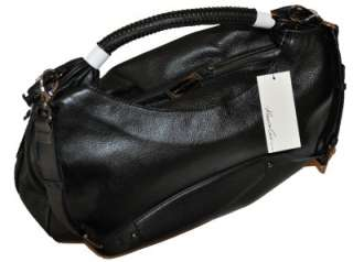 KENNETH COLE NEW YORK Handbag Purse NO SLOUCH HOBO Black Leather $299