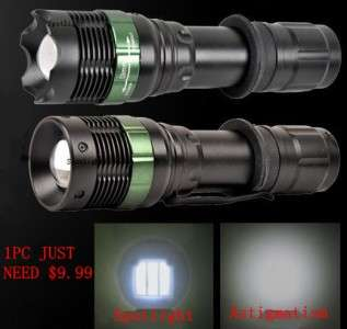 7W WATERPROOF LED ZOOMABLE Flashlight Torch 500 Lm Lamp Light 18650