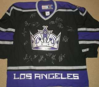 2011 2012 LOS ANGELES KINGS TEAM SIGNED AUTOGRAPH JERSEY KOPITAR