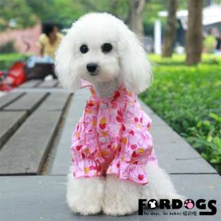 features style doggie clothes puppy fasion royal princess pink shirt