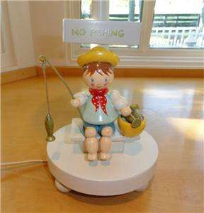 Nursery~Baby~Boy~Child~Wood~Wooden~Fishing~Fish~Boat~Lamp~Light
