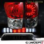 TOYOTA TUNDRA TRUCK LED TAIL LIGHTS SR5 + L.E.D 3rd BRAKE CARGO LIGHT