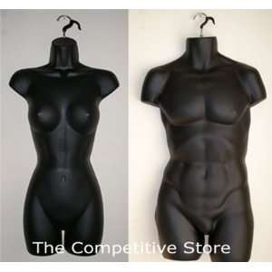Female + Male Dress Mannequin Forms Set (Hips Long)   Use