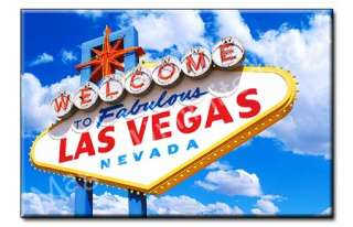 Las Vegas Welcome Sign   Nevada Souvenir Fridge Magnet