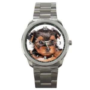 Yorkshire Terrier Puppy Dog 8 Sport Metal Watch EE0655