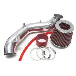 02 03 04 05 Honda Civic Si 2.0L Short Ram Air Intake Polish + Red