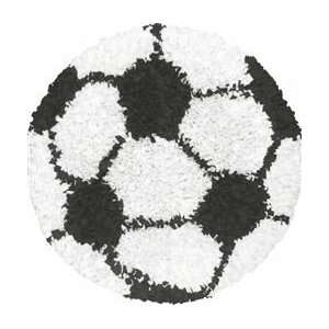 The Rug Market America Kids Shaggy Raggy Soccer Ball   3 Round