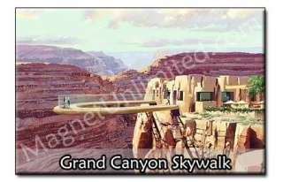 West Grand Canyon Skywalk   AZ Souvenir Fridge Magnet