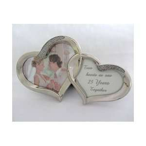 Together Frame   Silver Heart Frame for 25th Wedding Anniversary Gift