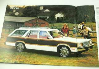 1980 80 FORD STATION WAGON BROCHURE Fairmont Pinto LTD