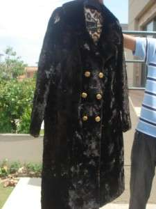 Sheared Mink Beaver Leopard Print Fur Coat Women Men Jacket Size L