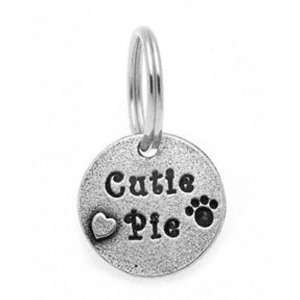 Cutie Pie Designer Pewter Personalized Dog Collar Charm
