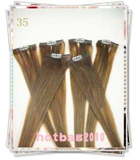 20 6pcs 100% Real HUMAN HAIR CLIP IN EXTENSION #35,30​g/set
