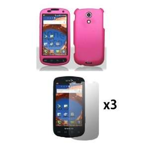 Samsung Epic 4G Combo Pack   Hot Pink Rubberized Case and