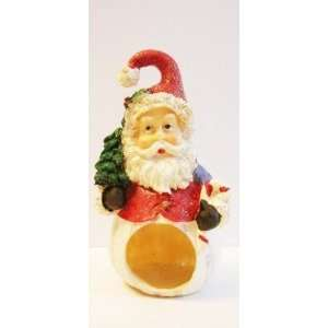 Red Santa with Christmas Tree & Candy Cane Figurine