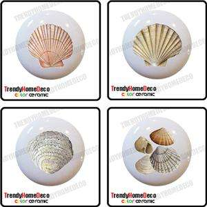 Sea Shells Ceramic Knobs Pull Kitchen Drawer Cabinet Vanity 236