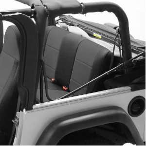 SPC194 Black / Charcoal Rear Seat Cover for Jeep Wrangler 4 Door 07