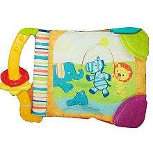 Bright Starts Teether Book   Elephant/Zebra/Lion   Kids II   ToysR
