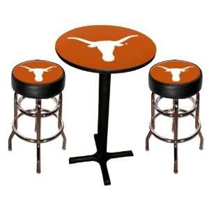 Texas UT Longhorns Pool Hall/Bar/Pub Table   Black Sports