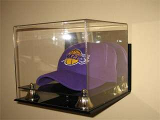 DELUXE WALL MOUNT ACRYLIC HAT   CAP DISPLAY CASE HOLDER