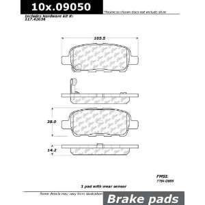 Centric Parts Rear StopTech Street Performance Brake Pads