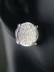 MENS/LADIES ROUND PRONG DIAMOND PAVE 10 M STUD EARRINGS