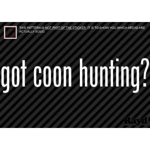(2x) Got Coon Hunting   Sticker   Decal   Die Cut