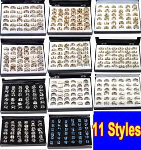 Wholesale jewelry Lots High Quality Stainless Steel Rings & Display