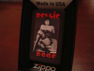 BETTIE PAGE PINUP GIRL ZIPPO LIGHTER MINT IN BOX