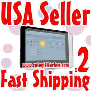 2x Clear LCD Screen Protector Viewsonic G Tablet 10.1