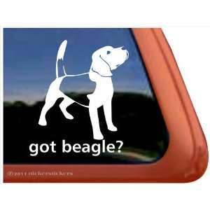 Got Beagle? Dog Vinyl Window Auto Decal Sticker
