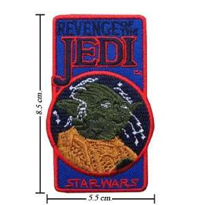 3pcs Star Wars Yoda Logo II Embroidered Iron on Patches Kid