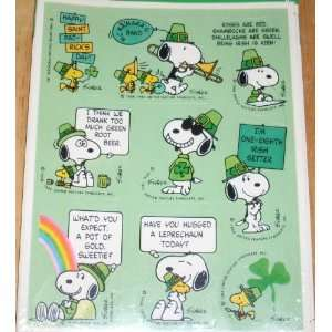 Hallmark Peanuts Snoopy 2 Sheets Irish St. Patricks