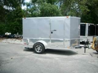 Enclosed Cargo Motorcycle Trailer NEW ATP 360* and ramp door