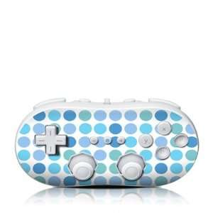 Turquoise Dots Design Skin Decal Sticker for the Wii