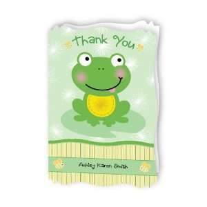 Froggy Frog   Personalized Baby Thank You Cards With