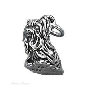 Sterling Silver 3D Yorkshire Terrier Dog Breed Charm Jewelry