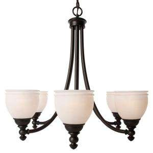 Hampton Bay Stanton Hills 6 Light 85in. Sable Bronze Patina Chandelier